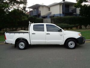 2006 Toyota Hilux TGN16R Workmate White 5 Speed Manual Dual Cab Pick-up