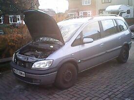 spares breaking vauxhall zafira diesel