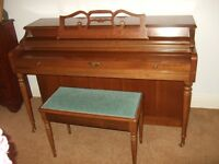 Vintage Wurlitzer Upright Piano Spinet Model 2120 - 1980 - Derby Area
