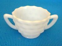 Milk glass cream and sugar containers
