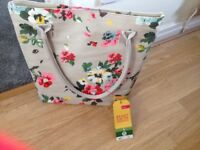 Joules bag with toiletries