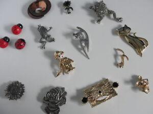 Variété de broche vintage