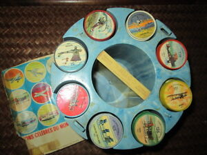 1960'S JELL-O AVIATION COINS 200 COMPLETE SET W/BOOK+CADDY!!!