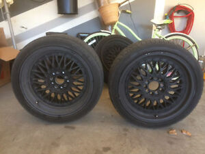 "6x BMW/Mercedes/Audi/VW 5x112 / 5x120 18"" rims with all seasons Windsor Region Ontario image 1"