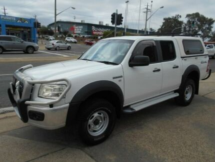 2007 Ford Ranger PJ XL Crew Cab White 5 Speed Manual Utility Fyshwick South Canberra Preview