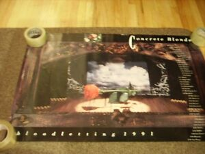 CONCRETE BLONDE BLOODLETTING TOUR 1991 PROMO POSTER BRAND NEW
