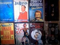 CASSETTE TAPE CHART HIT COMPILATIONS 1950s, 1960s, 1990s + JIM REEVES, MARTY ROBBINS CASSETTE TAPES