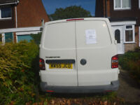 VW Transporter SWB for Sale. White, Alloy Wheels, Boarded Out, No VAT good runner. Full Year MOT.