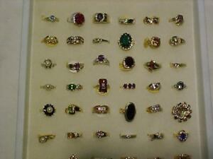 UNDER $200.00---*150* GOLD RINGS/DIAMONDS/SEMI PRECIOUS-