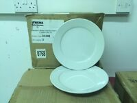 White dinner plates 9ins 96 thats only 32p each never used