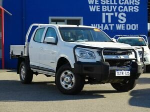 2012 Holden Colorado RG MY13 LX Crew Cab 4x2 White 6 Speed Sports Automatic Cab Chassis Welshpool Canning Area Preview