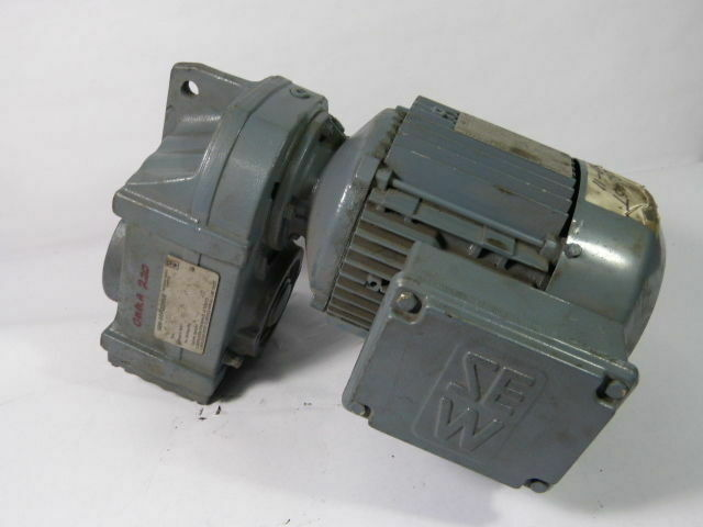 Sew-Eurodrive 1.5HP 1700RPM 330/575V TEFC C/W Gear Reducer 48.00:1 Ratio  USED