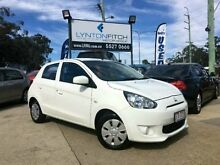 2014 Mitsubishi Mirage LA MY14 ES White 1 SPEED Hatchback Southport Gold Coast City Preview