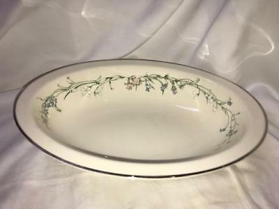 Minton Brookwood Fine Bone China Platinum Trim Open Vegetable Bowl 103/4 ""