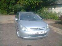 PEUGEOT 2.0 307 HDI 110BHP ESTATE, 16 INCH ALLOYS A/C NO ELECTRICAL OR MECHANICAL FAULTS....