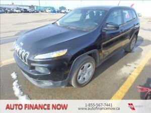 2014 Jeep Cherokee Sport LOW KMS CHEAP PAYMENTS LENDERS ONSITE