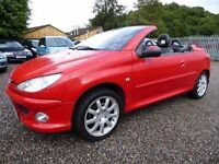 Peugeot 206 CC Allure 16v, Electric Folding Metal Roof, Genuine 38,000 Miles Only, Full Leather