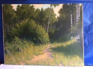 """Oil Painting- """"Path in The Woods"""" by Don Weir"""