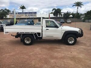 2009 Nissan Patrol GU 6 MY08 DX White 5 Speed Manual Cab Chassis Rosslea Townsville City Preview