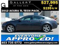 2012 Acura TL TECH PKG $199 bi-weekly APPLY NOW DRIVE NOW