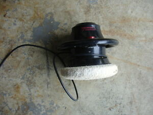 "9"" Sears Craftsman Orbital Buffer with 19 various pad covers."