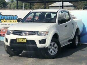 2013 Mitsubishi Triton MN MY13 GLX White Manual Utility Campbelltown Campbelltown Area Preview