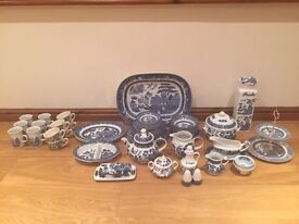 Blue & White Counrty Kitchen Crockery Set