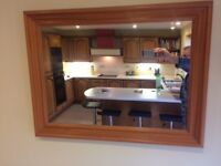 Pine effect wall mirror