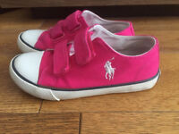 Polo Ralph Lauren Pink Girl Trainers size 10