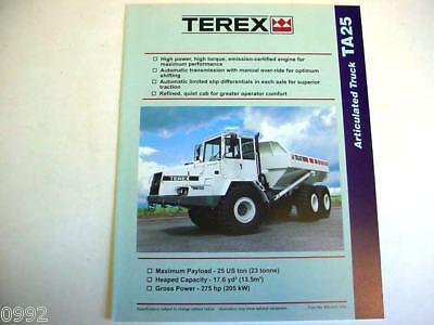 Terex Articulated Ta25 Truck Literature