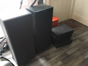 Pioneer stereo sound system speakers