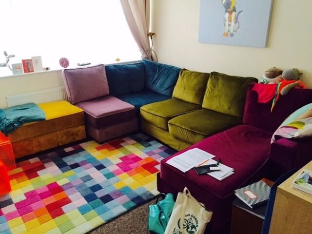 Furniture Village Belfast harlequin sofa £1,500 - 1 year old (originally £3k from furniture