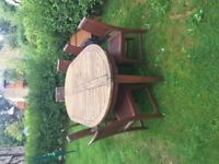 Garden Dining Table and Chairs Hardwood