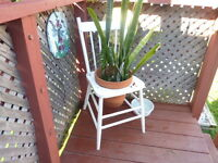 Vintage Wood Chair Plant Stand