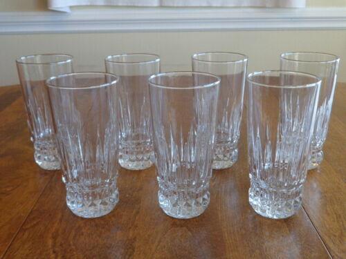 CRISTAL D'ARQUES VILLENEUVE HIGHBALL GLASSES LOT OF 7