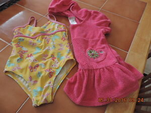 Girl's Size 24months Swim Suit & Cover Up
