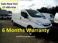 Vauxhall Vivaro 2.0 CDTi 2900 Panel Van LWB 4dr