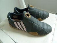 Adidas leather slip-on trainers