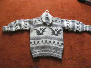 HANDMADE COWICHIN WOOL INDIAN SWEATER price reduced Prince George British Columbia image 2