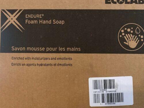 (Case of 4) Ecolab 6000069 Endure Foam Hand Soap, 1250ML, Exp 06/2022