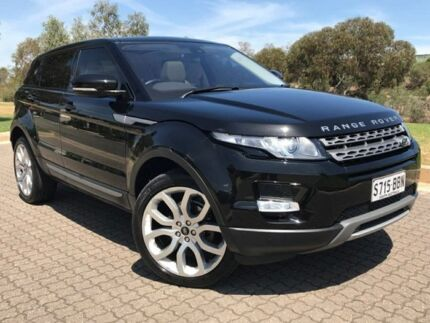 2013 Land Rover Range Rover Evoque L538 MY13.5 SD4 CommandShift Pure Black 6 Speed Sports Automatic