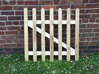 Wooden garden gate 3x3