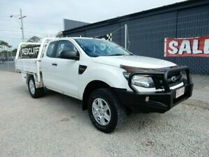 2014 Ford Ranger PX XL Super Cab White 6 Speed Manual Cab Chassis Kippa-ring Redcliffe Area Preview