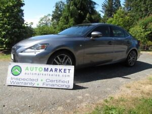 2014 Lexus IS F-SPORT, AWD, NAVI, WARR