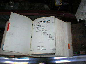 69 PLYMOUTH PARTS BOOK (PHOTOCOPIED) Peterborough Peterborough Area image 1