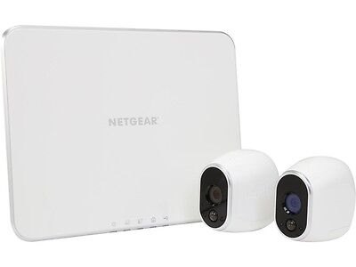 Netgear Arlo Smart Home Security Camera System - 2 HD, 100% Wire-Free, Indoor /