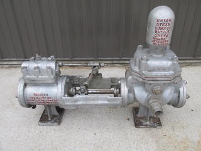 Antique Vintage Burnham Union Steam Co. Powered Air Water Pump Hit Miss Engine