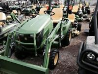 John deere new 2014 1023e,d120 loader and back blade save $3,835