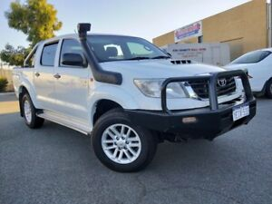 2013 Toyota Hilux KUN26R MY14 SR (4x4) White 5 Speed Manual Dual Cab Pick-up Malaga Swan Area Preview