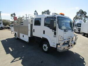 ** 2011 ISUZU FRR 600 PREMIUM CREW CAB SERVICE TRUCK with CRANE ** Arndell Park Blacktown Area Preview